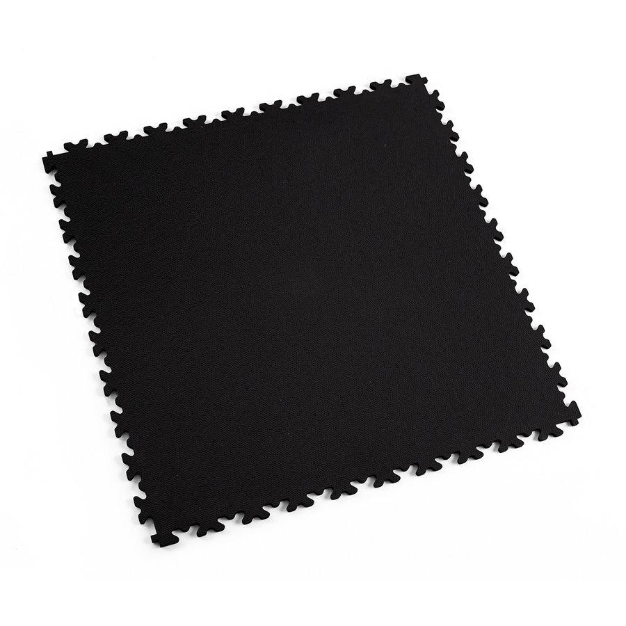 Černá plastová vinylová zátěžová dlaždice Eco 2020 (kůže), Fortelock - délka 51 cm, šířka 51 cm a výška 0,7 cm