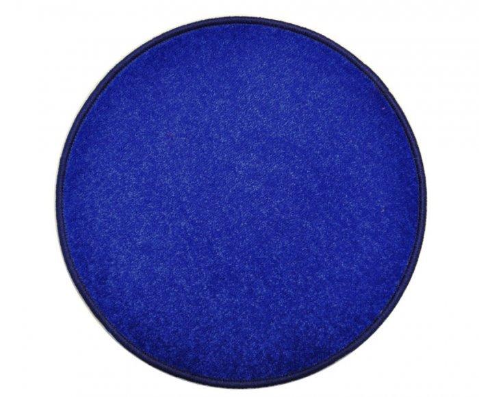 Modrý kusový kulatý koberec Eton