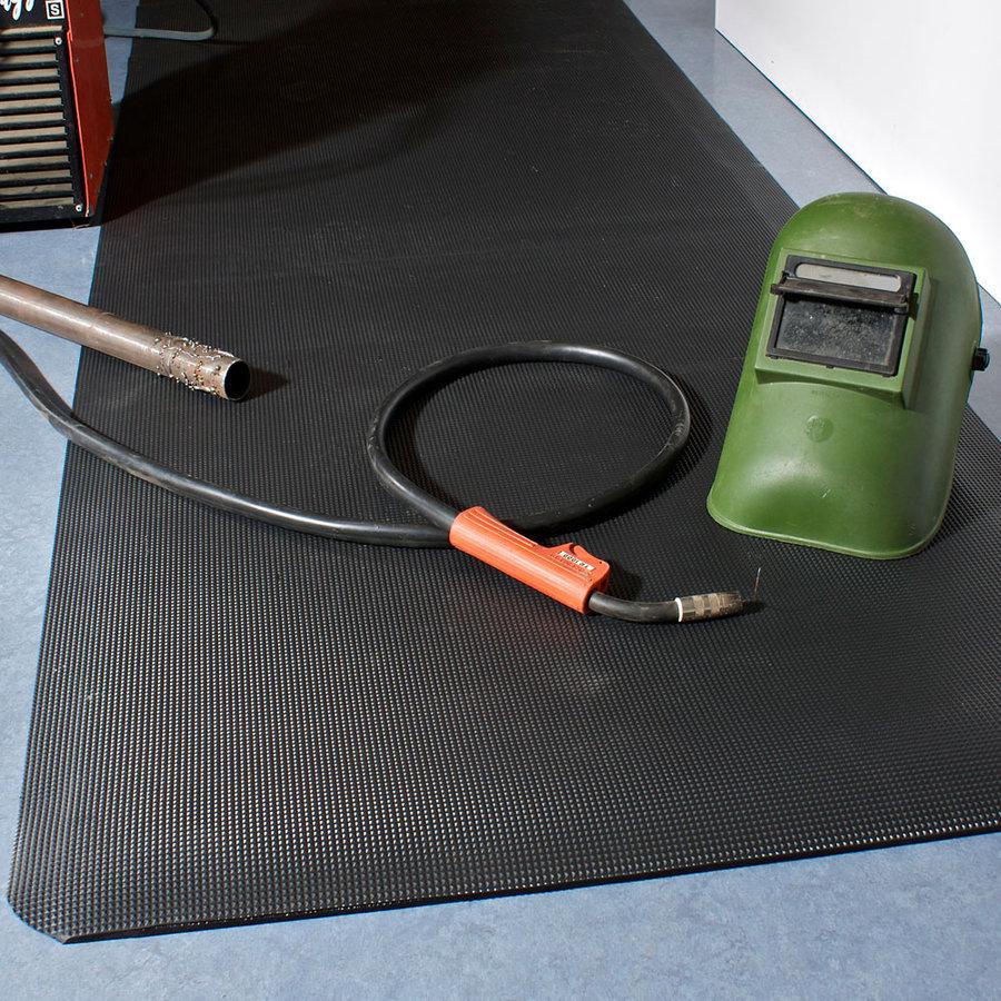 Černá průmyslová protiskluzová rohož pro svářeče - délka 150 cm, šířka 90 cm a výška 1,25 cm