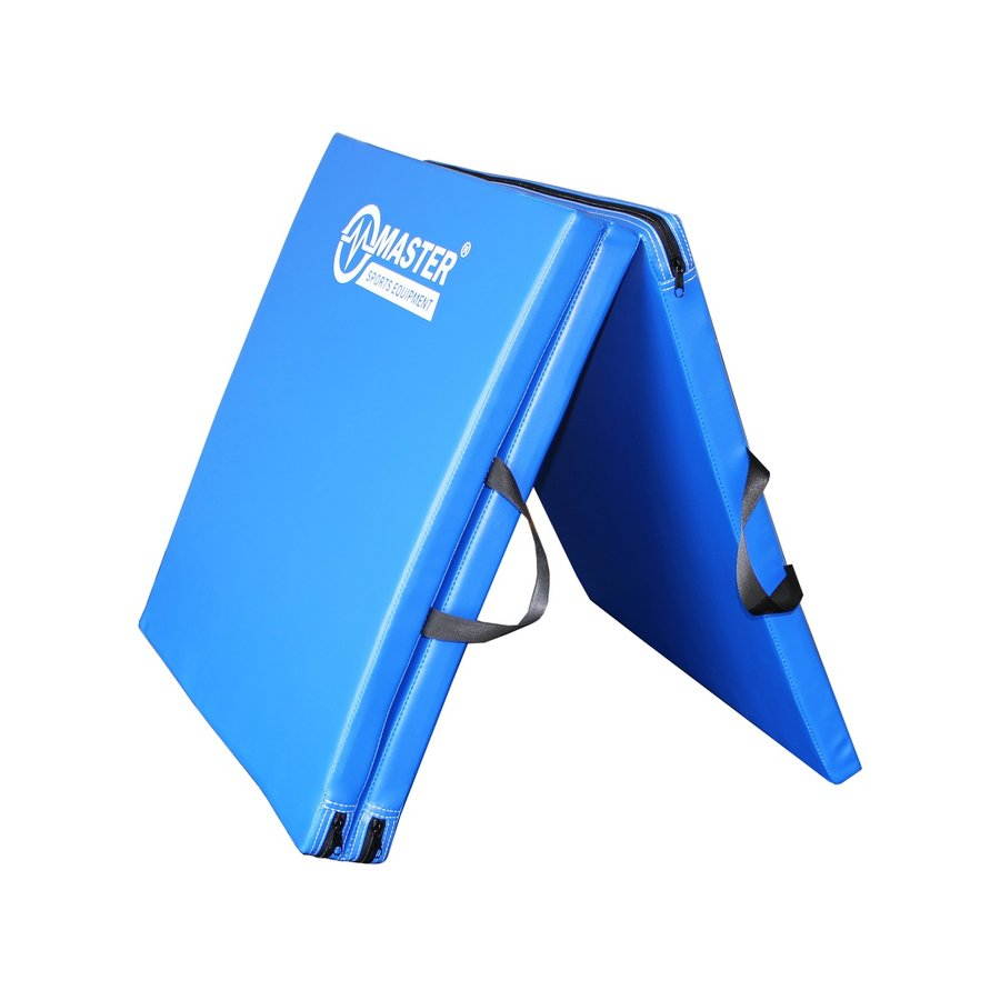 Modrá skládací žíněnka - délka 183 cm, šířka 60 cm a výška 3,5 cm