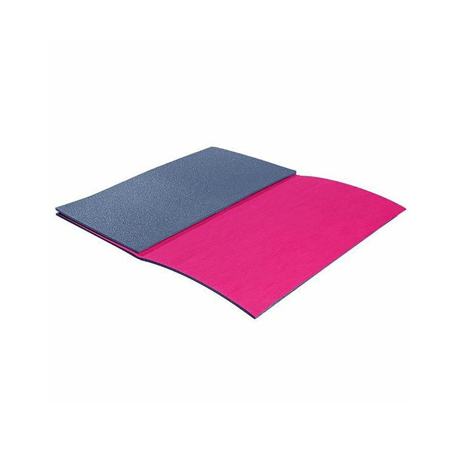 Růžová skládací karimatka na cvičení - délka 90 cm, šířka 50 cm a výška 0,8 cm