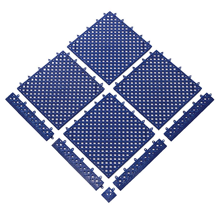 Modrá bazénová modulární rohož (dlaždice) Lok-Tyle - délka 30,5 cm, šířka 30,5 cm a výška 1,43 cm