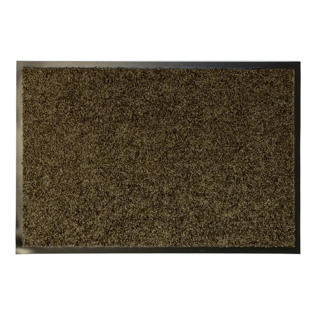 Hnědá textilní vnitřní vstupní čistící antibakteriální rohož - 120 x 80 x 0,9 cm