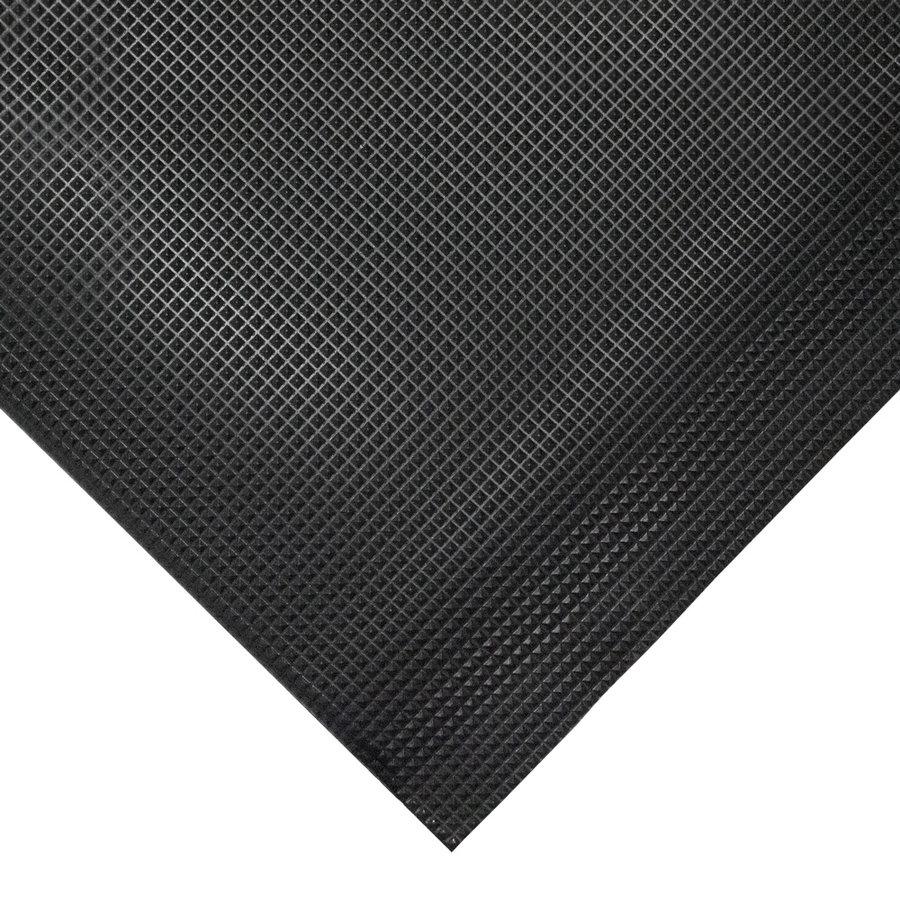 Černá gumová protiskluzová protiúnavová průmyslová rohož - délka 90 cm, šířka 60 cm a výška 1 cm