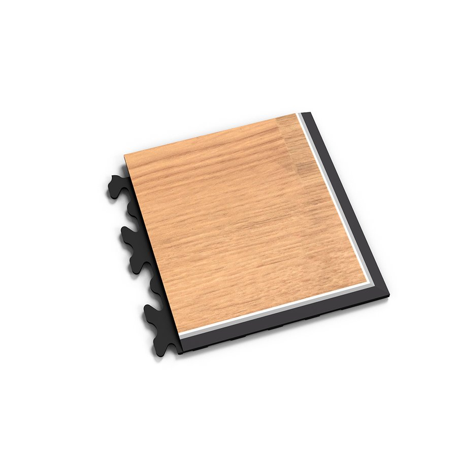 "Hnědý plastový vinylový rohový nájezd ""typ D"" Home Decor 2119, Fortelock - délka 14,5 cm, šířka 14,5 cm a výška 0,65 cm"