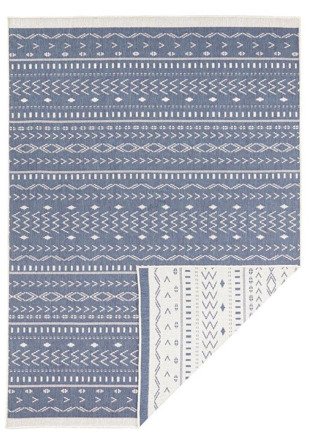 Modrý oboustranný moderní koberec Kuba, Twin-Supreme - délka 350 cm a šířka 80 cm