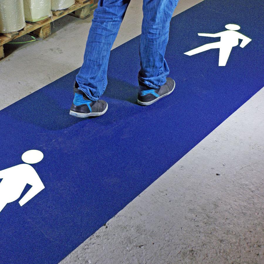 Modrá korundová protiskluzová samolepící páska (pás) pro pěší koridory - délka 5 m a šířka 100 cm