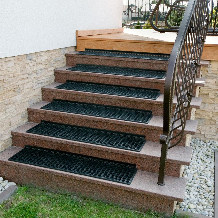 Gumová schodová rohož na hrubé nečistoty - délka 29 cm, šířka 105 cm a výška 1,2 cm