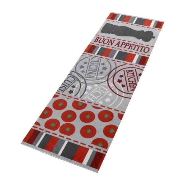 Červená kuchyňská kusová předložka Cook & Clean - délka 150 cm a šířka 50 cm