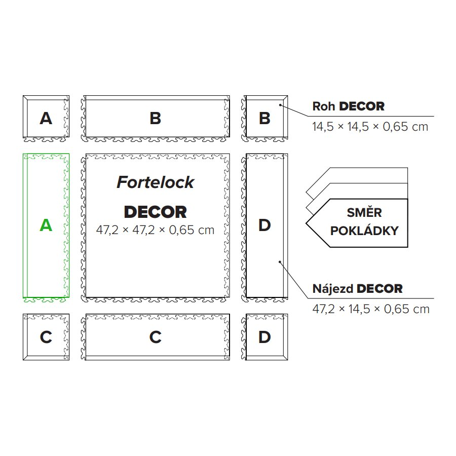 "Béžový plastový vinylový nájezd ""typ A"" Business Decor 2125, Fortelock - délka 47,2 cm, šířka 14,5 cm a výška 0,65 cm"