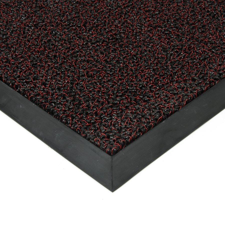 Červená plastová vstupní vnitřní venkovní čistící zátěžová rohož Rita, FLOMAT - délka 80 cm, šířka 120 cm a výška 1 cm
