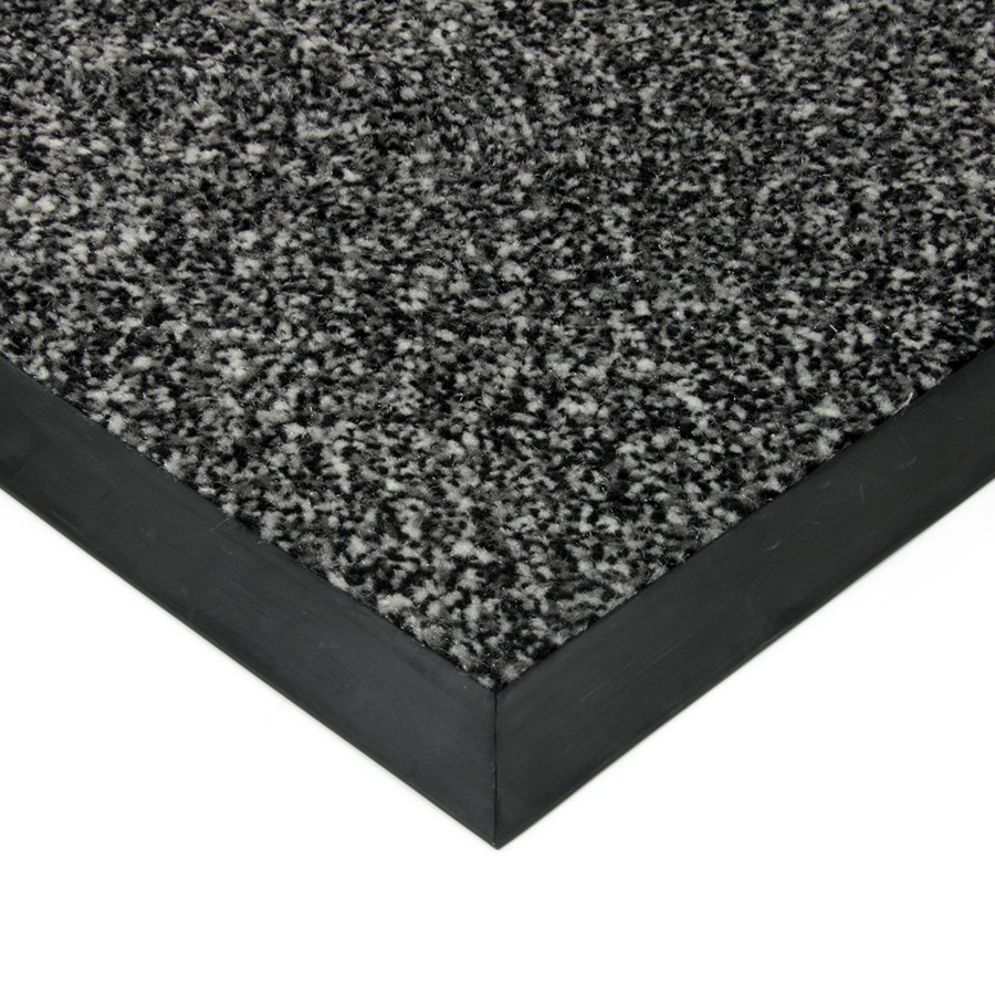Bílo-černá textilní čistící vnitřní vstupní rohož Cleopatra, FLOMAT - délka 50 cm, šířka 80 cm a výška 1 cm