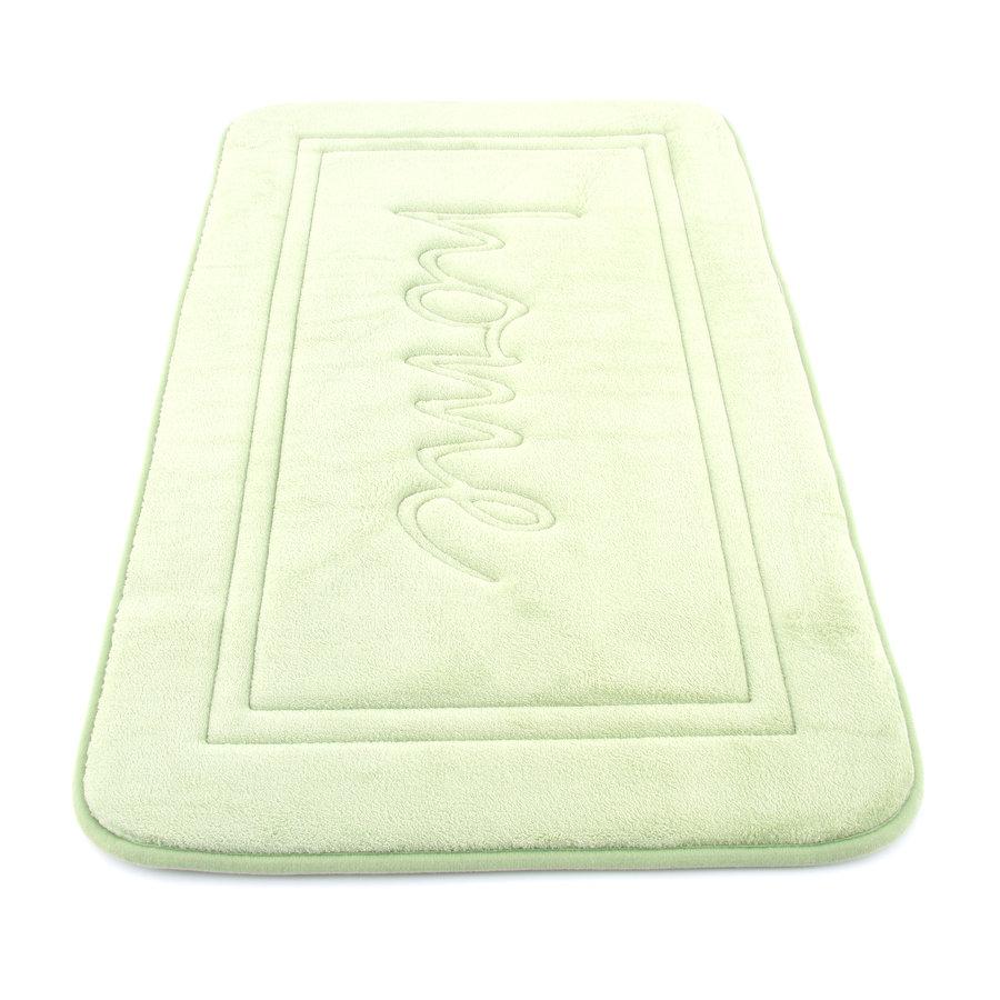 Zelená pěnová koupelnová předložka - délka 80 cm a šířka 50 cm