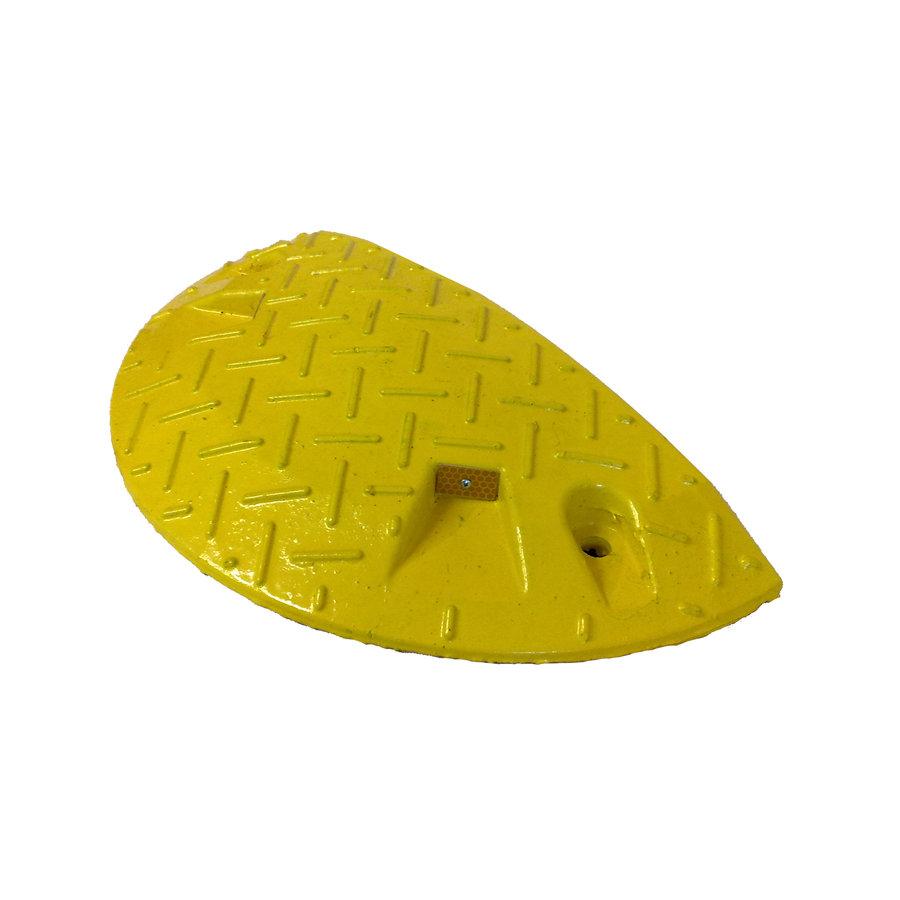 Žlutý plastový zpomalovací koncový práh - 10 km / hod