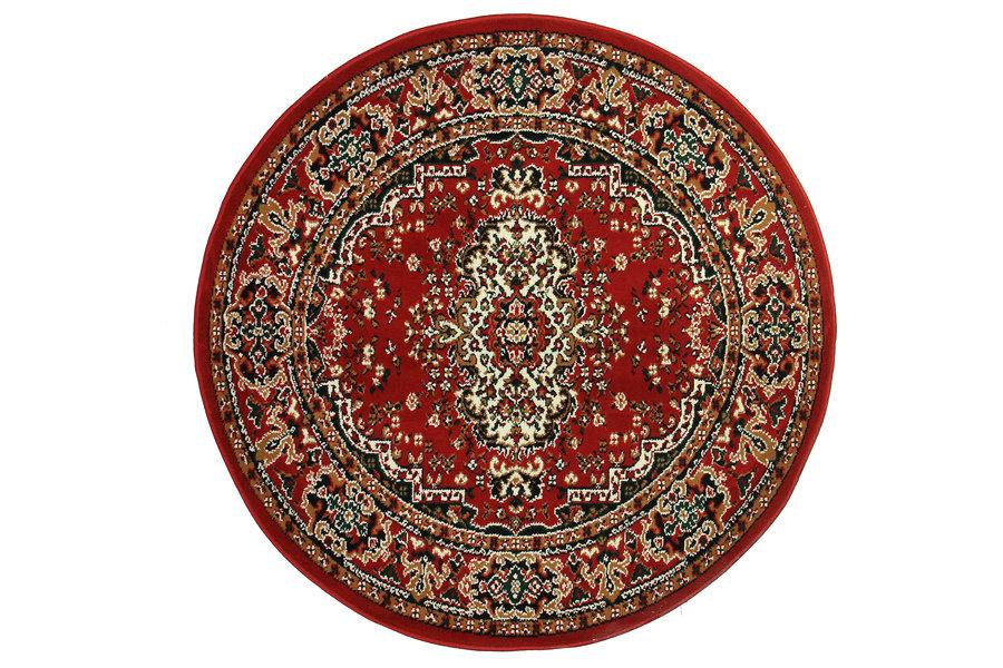 Červený kusový orientální kulatý koberec Teheran-T - průměr 150 cm