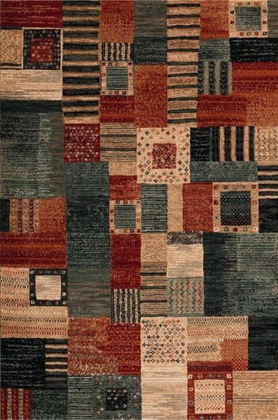 Různobarevný kusový koberec Kashqai - délka 170 cm a šířka 120 cm