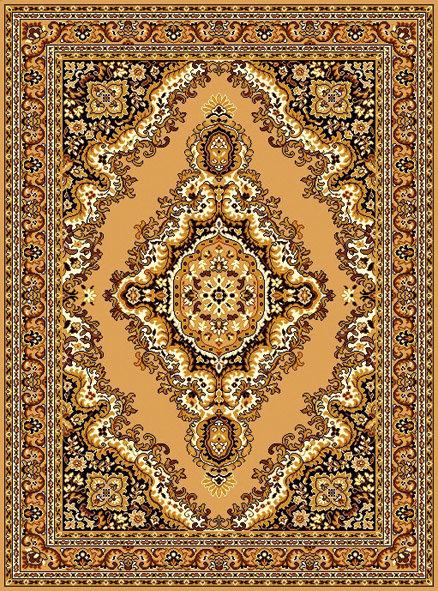 Béžový kusový orientální koberec Teheran-T