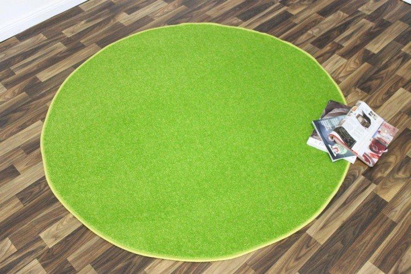 Zelený kusový kulatý koberec Nasty