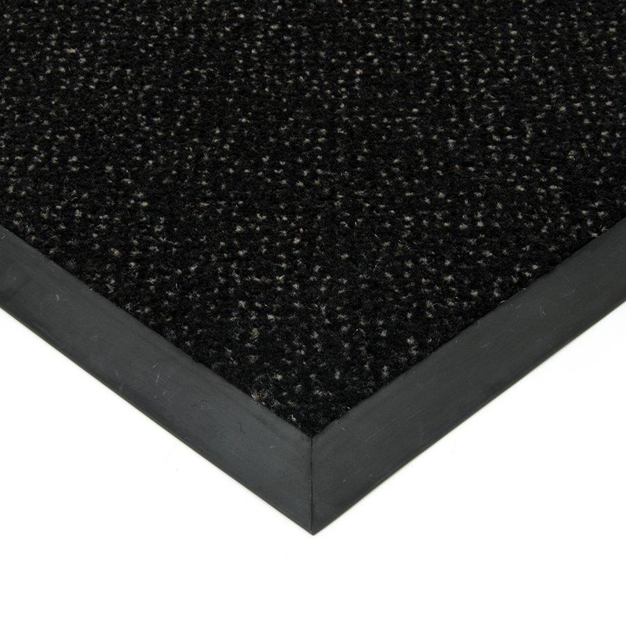 Černá textilní čistící vnitřní vstupní rohož Cleopatra Extra, FLOMAT - výška 1 cm