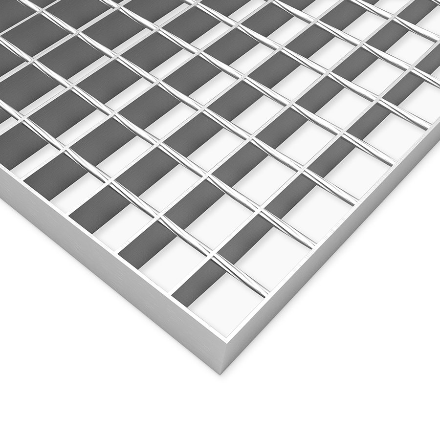 Ocelový pozinkovaný svařovaný podlahový rošt FLOMA - délka 100 cm, šířka 100 cm a výška 3 cm
