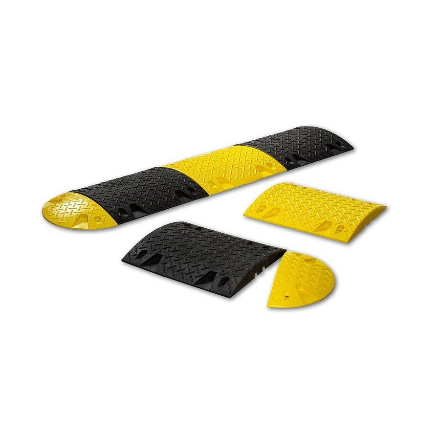Žlutý plastový průběžný zpomalovací práh - 10 km / hod