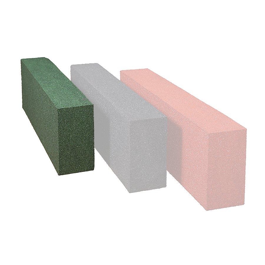 Zelený gumový dopadový obrubník OB1 FLOMA - délka 100 cm, šířka 15 cm a výška 30 cm