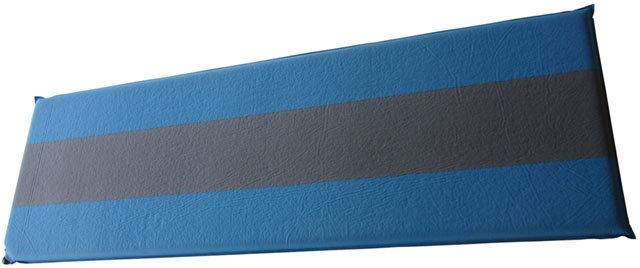 Modro-šedá samonafukovací karimatka - délka 198 cm, šířka 62,5 cm a výška 5 cm