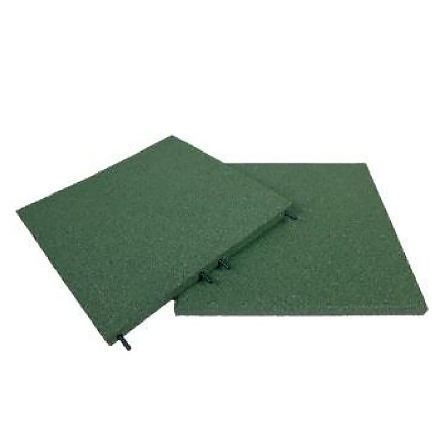 Zelená gumová dlaždice (V30/R00) - délka 50 cm, šířka 50 cm a výška 3 cm