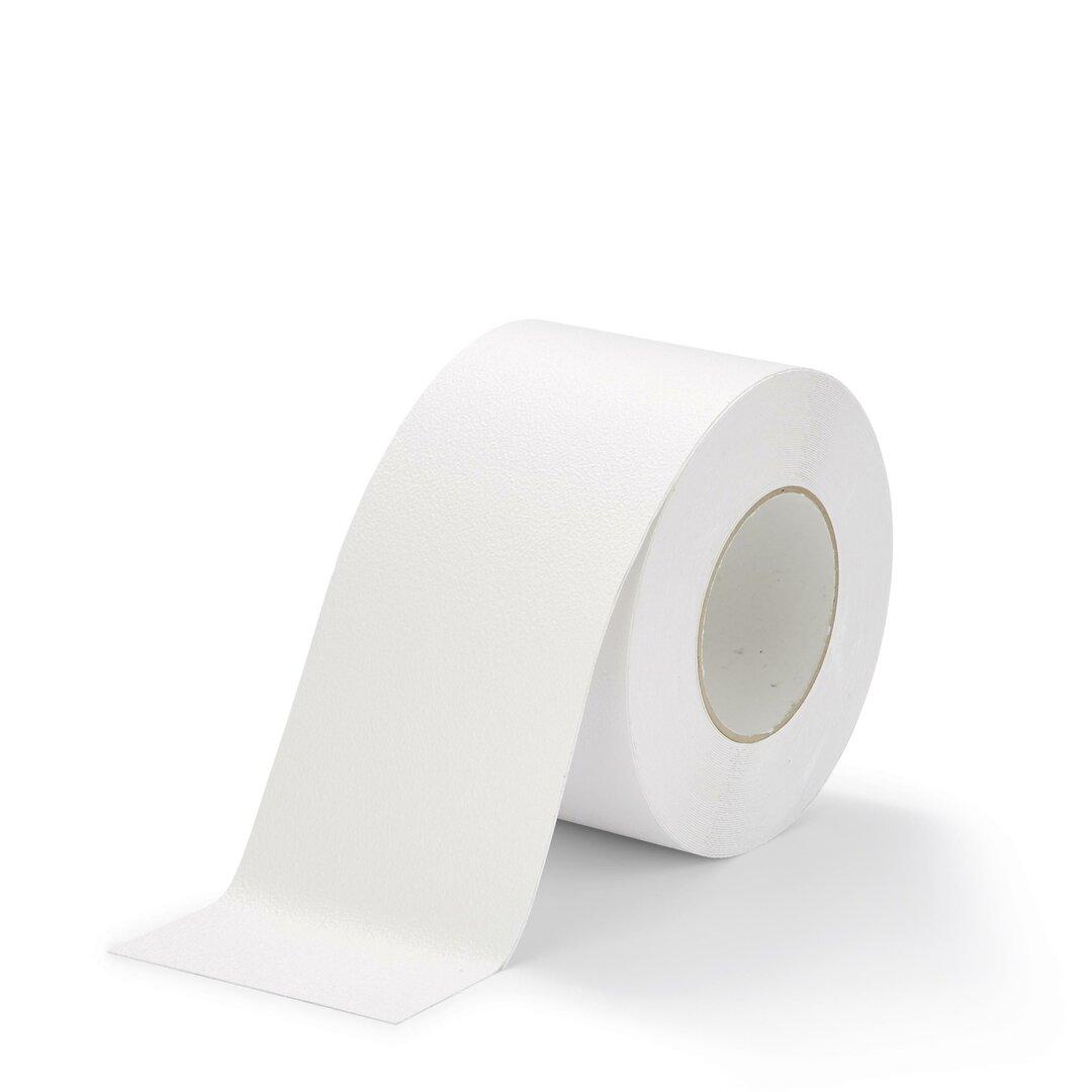 Bílá plastová voděodolná protiskluzová páska FLOMA Aqua-Safe - 18,3 x 10 cm tloušťka 0,7 mm