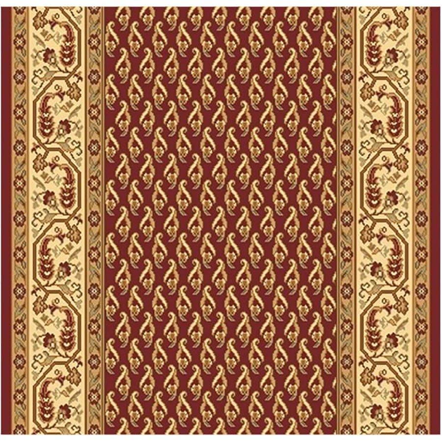 Červený nebo vínový metrážový orientální koberec běhoun Malaga