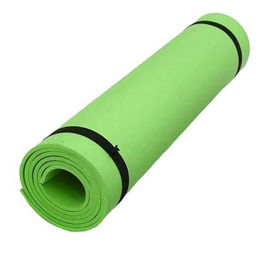 Zelená pěnová karimatka s obalem na cvičení - délka 173 cm, šířka 61 cm a výška 0,6 cm