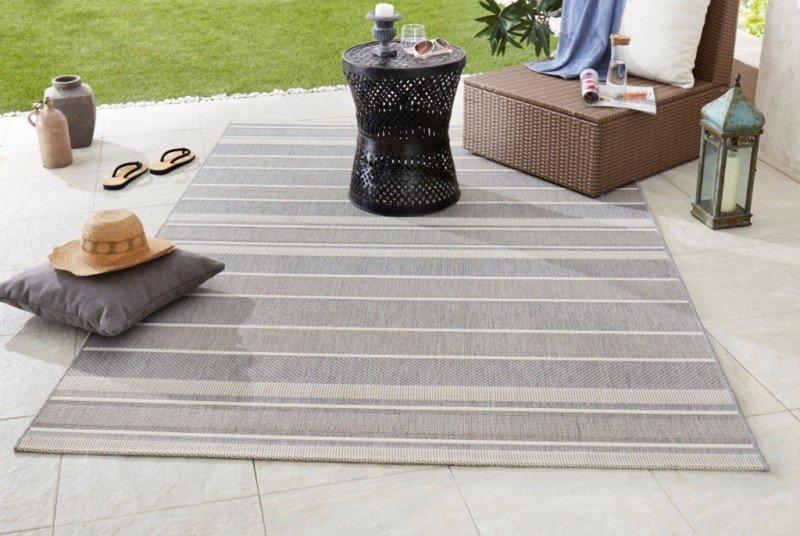Šedý kusový koberec Meadow - délka 170 cm a šířka 120 cm