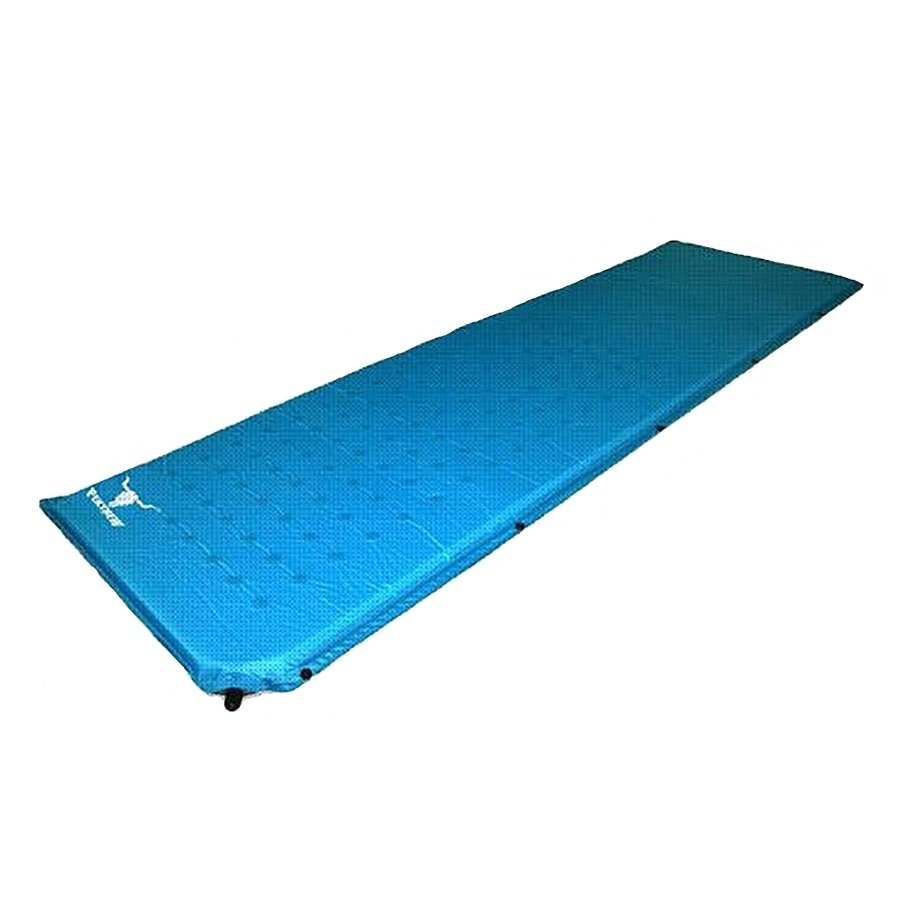 Modrá samonafukovací karimatka - délka 185 cm, šířka 55 cm a výška 2,5 cm