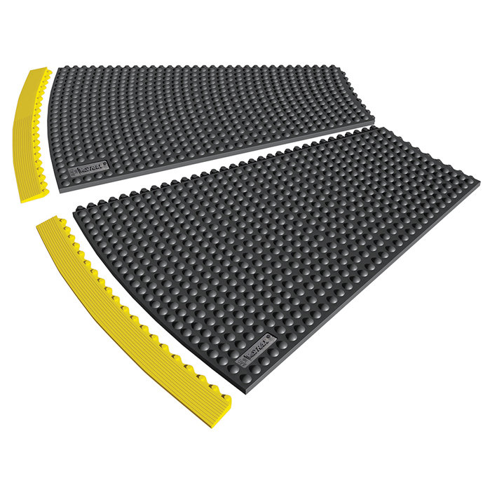 Černá gumová rohož (okraj) Skywalker HD o-Curve, Nitrile FR - výška 1,3 cm