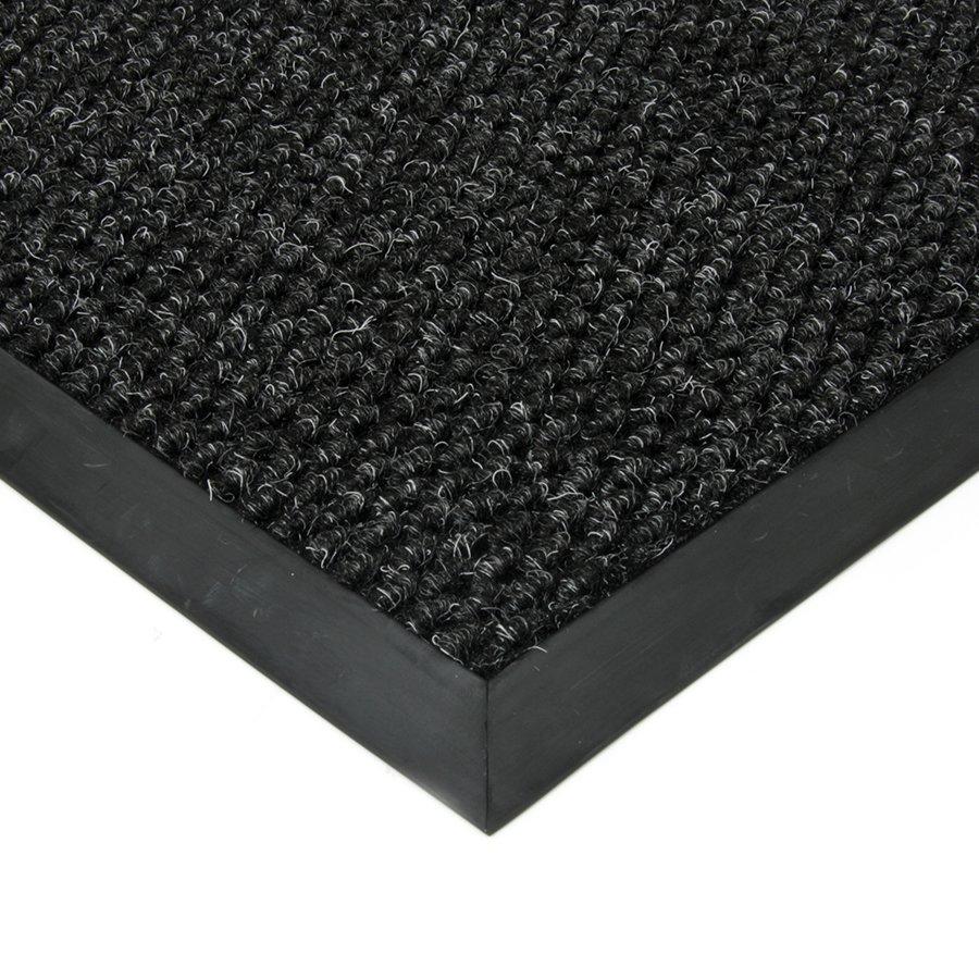 Černá textilní zátěžová čistící vnitřní vstupní rohož Fiona, FLOMAT - výška 1,1 cm