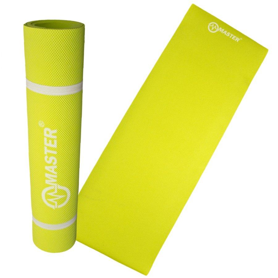 Žlutá podložka na cvičení a na jógu - délka 173 cm, šířka 61 cm a výška 0,4 cm