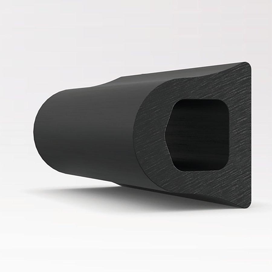Pryžový nárazový ochranný pás (svodidlo) FLOXO - délka 300 cm, výška 7,5 cm a tloušťka 6,75 cm
