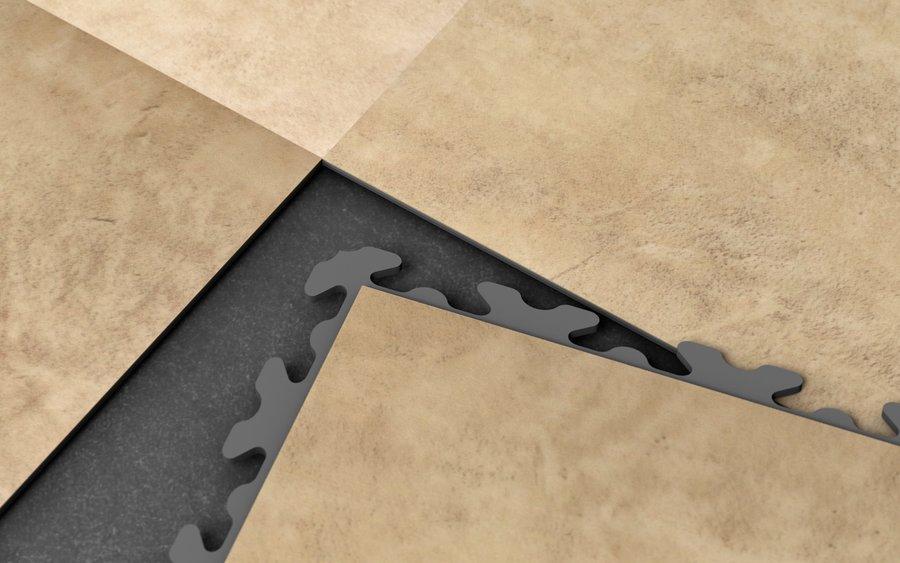 Plastová podlaha z vinylových PVC dlaždic Fortelock